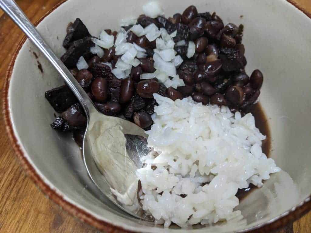 Crockpot Express Black Beans and Rice with Ham